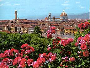 Firenze - panorama con cattedrale e cupola del Brunelleschi Florence - panorama with cathedral and Brunelleschi dome Florencia - vista con catedral y cúpula de Brunelleschi Florenz - Panorama mit Kathedrale und Brunelleschi Dom Florence - vue avec cathédrale et le cupole de Brunelleschi